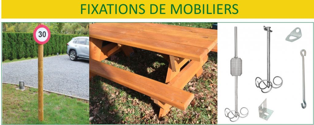 Fixations mobiliers